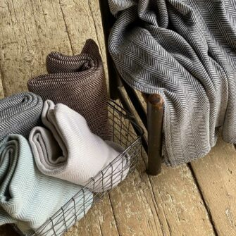 Swans Island Harmony Throws - Soft cotton and cashmere, woven in Maine