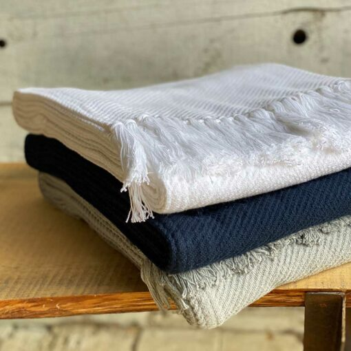 Swans-Island_Summer-Twill-Throw_100% American cotton woven in Maine