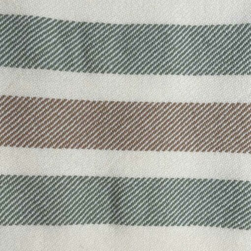 Swans Island's Border Stripe Throw blanket is woven in Maine with 100% natural wool.