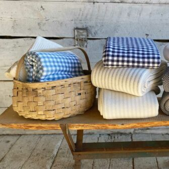 Swans-Island-Gingham-Check-and-other Maine-made cotton-blankets