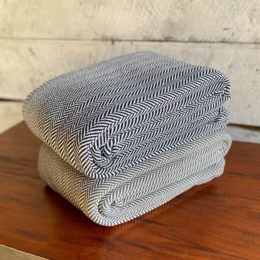Swans-Island_Belfast-Blankets_100% Cotton blanket woven in Maine