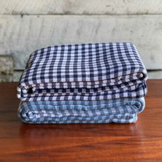 Swans Island Gingham Check Blankets- 100% Cotton Woven in Maine