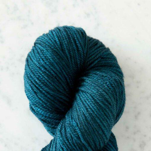 Swans Island Organic Merino Yarn, 100% certified organic Merino wool, hand-dyed in Maine. Color: Mallard