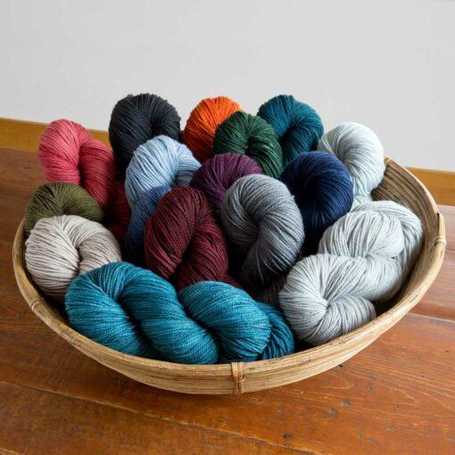 Swans Island Organic Merino Wool Yarn, 100% GOTS certified merino, hand-dyed in Maine
