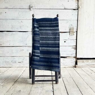 Artisan Ladders Throw #10 is a one-of-a-kind knit textile - a work of art!. Made in USA.