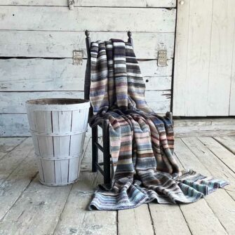 Artisan Ladders Throw #1 is a one-of-a-kind knit textile - a work of art!. Made in USA.