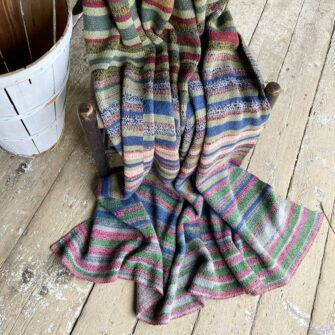 Artisan Ladders Throw #3 is a one-of-a-kind knit textile - a work of art!. Made in USA.