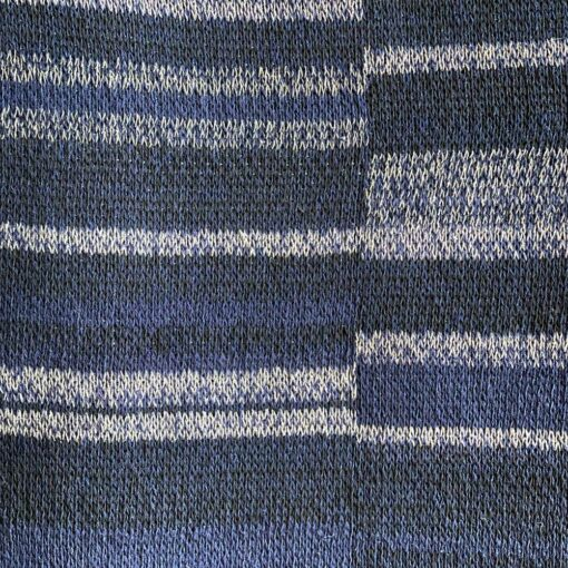 Artisan Ladders Throw #8 is a one-of-a-kind knit textile - a work of art!. Made in USA.