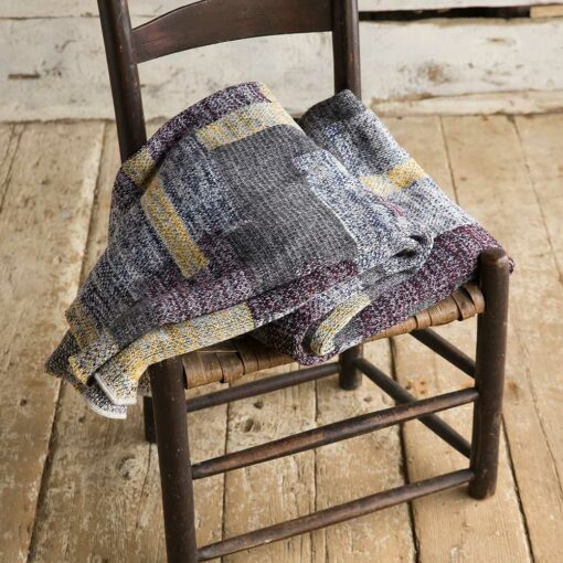 Swans Island's Artisan Patchwork Throw #112 is a one-of-a-kind knit.