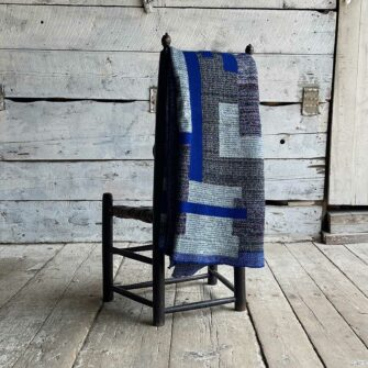 Artisan Patchwork Throw Cobalt Series is a one-of-a-kind knit textile - a work of art! Made in USA.