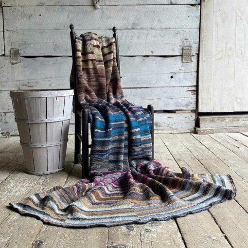 Artisan LaddersArtisan Ladders Throw #11 is a one-of-a-kind knit textile - a work of art! Made in USA.Throw #22 is a one-of-a-kind knit textile - a work of art! Made in USA.