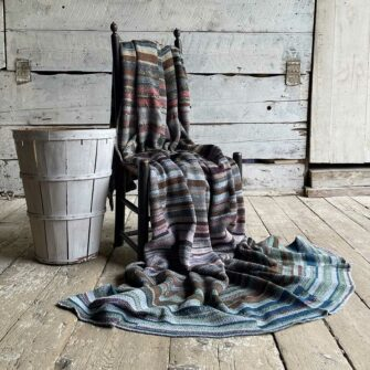 Artisan Ladders Throw #15 is a one-of-a-kind knit textile - a work of art! Made in USA.