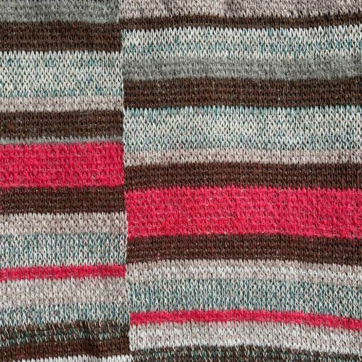 Artisan Ladders Throw #16 is a one-of-a-kind knit textile - a work of art! Made in USA.