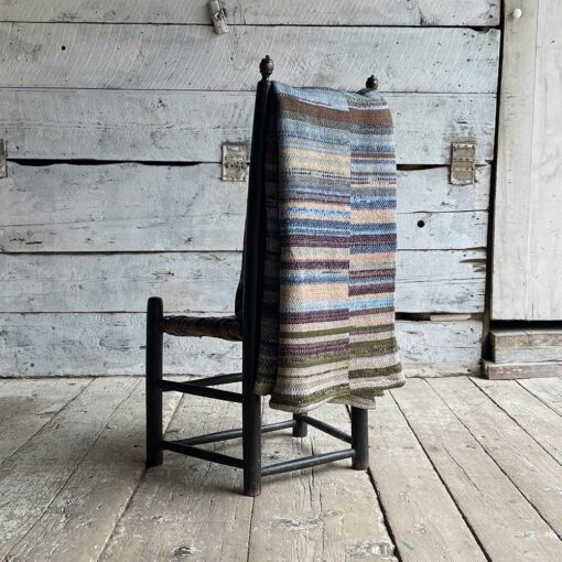 Artisan Ladders Throw #20 is a one-of-a-kind knit textile - a work of art! Made in USA.