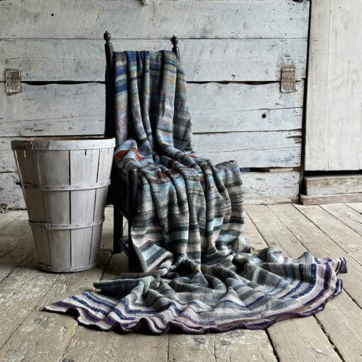 Artisan Ladders Throw #21 is a one-of-a-kind knit textile - a work of art! Made in USA.