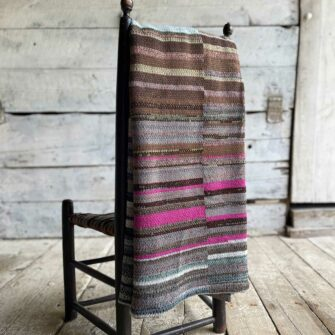 Artisan Ladders Throw #23 is a one-of-a-kind knit textile - a work of art! Made in USA.