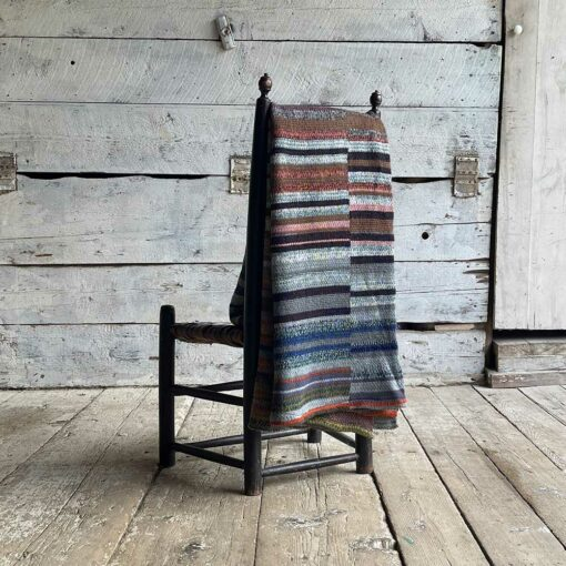 Artisan Ladders Throw #24 is a one-of-a-kind knit textile - a work of art! Made in USA.