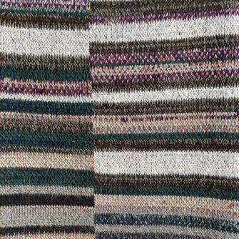 Artisan Ladders Throw #25 is a one-of-a-kind knit textile - a work of art! Made in USA.