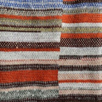 Artisan Ladders Throw #26 is a one-of-a-kind knit textile - a work of art! Made in USA.