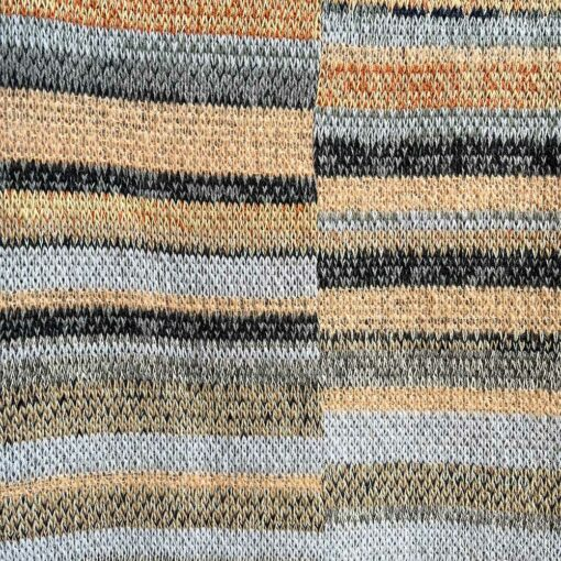 Artisan Ladders Throw #27 is a one-of-a-kind knit textile - a work of art! Made in USA.