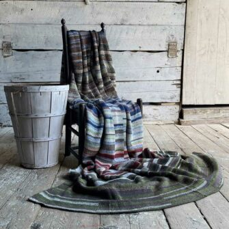 Artisan Ladders Throw #30 is a one-of-a-kind knit textile - a work of art! Made in USA.