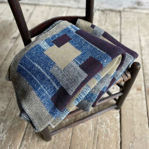 Swans Island's Artisan Patchwork Throw #202 is a one-of-a-kind knit. Made in USA this cozy oversized throw has richly marled yarns. Each one is unique.