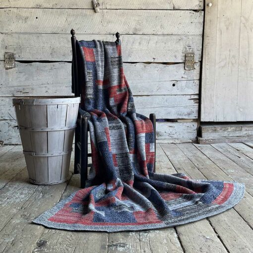 Swans Island's Artisan Patchwork Throw #210 is a one-of-a-kind knit. Made in USA this cozy oversized throw has richly marled yarns. Each one is unique.