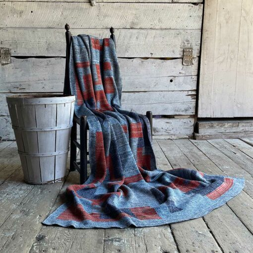 Swans Island's Artisan Patchwork Throw #213 is a one-of-a-kind knit. Made in USA this cozy oversized throw has richly marled yarns. Each one is unique.