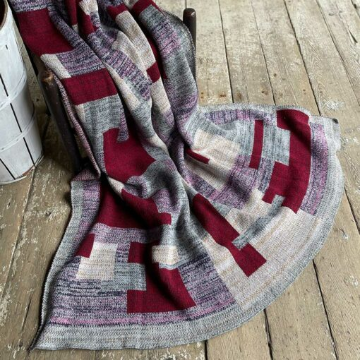 Swans Island's Artisan Patchwork Throw #220 is a one-of-a-kind knit. Made in USA this cozy oversized throw has richly marled yarns. Each one is unique.