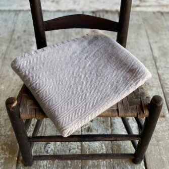 Swans Island Harmony Chevron Throw in Hazelnut - Soft cotton and cashmere, woven in Maine.
